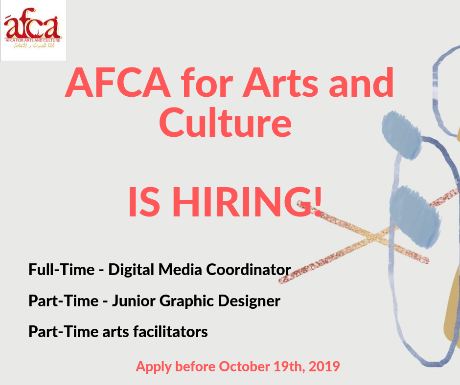 AFCA for Arts and Culture is hiring