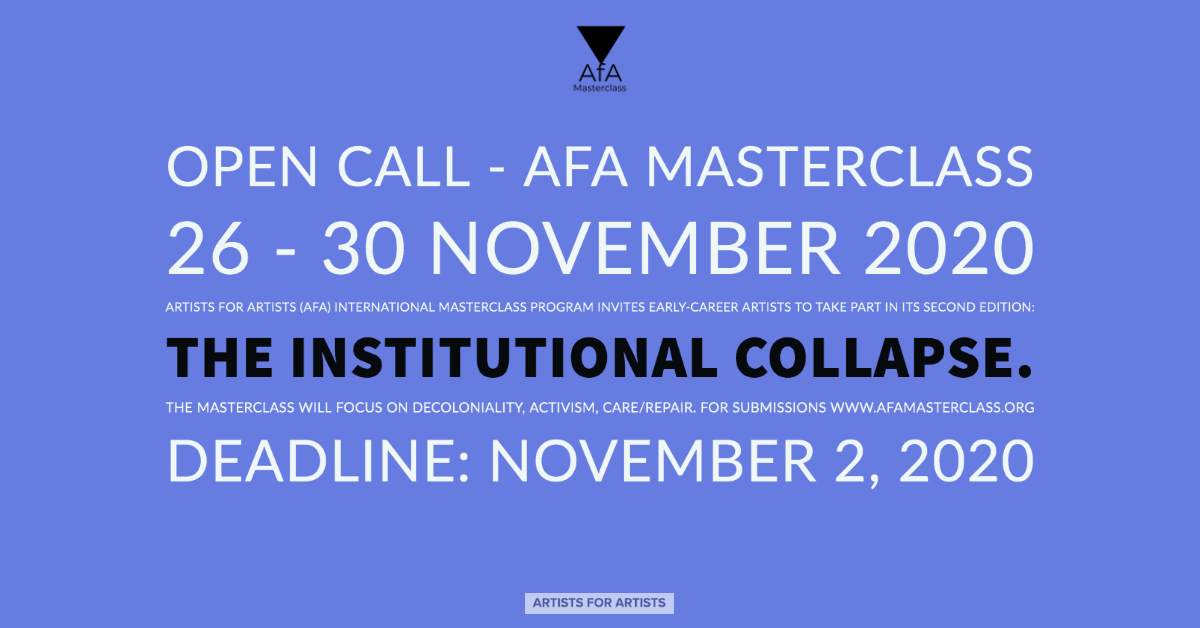 AfA Masterclass: The Institutional Collapse