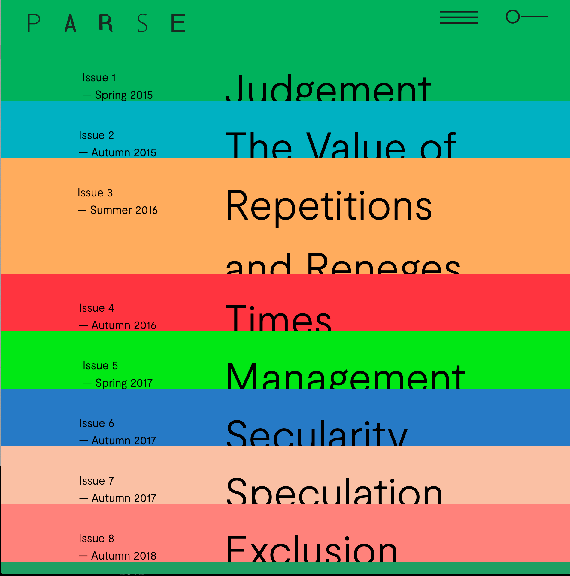 PARSE Journal: On the Question of Exhibition