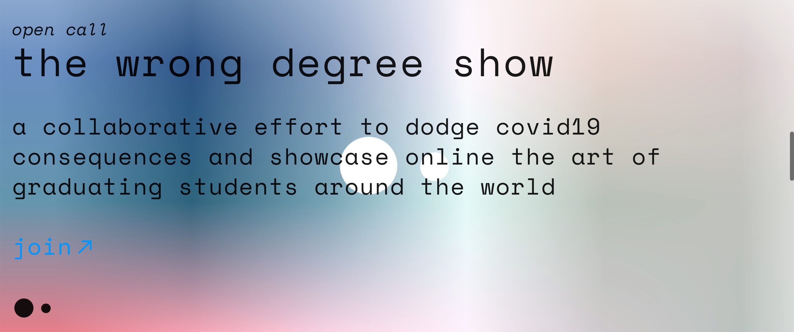 The Wrong Degree Show
